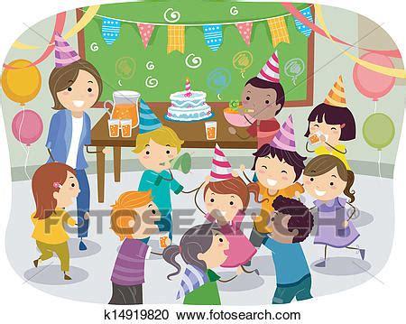 clipart compleanno bambini clipart stickman bambini scuola festa compleanno