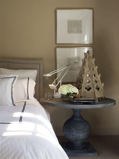 benjamin dhong zinc pedestal table transitional bedroom benjamin dhong
