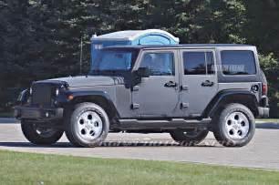 spied 2018 jeep wrangler prototype with live axle
