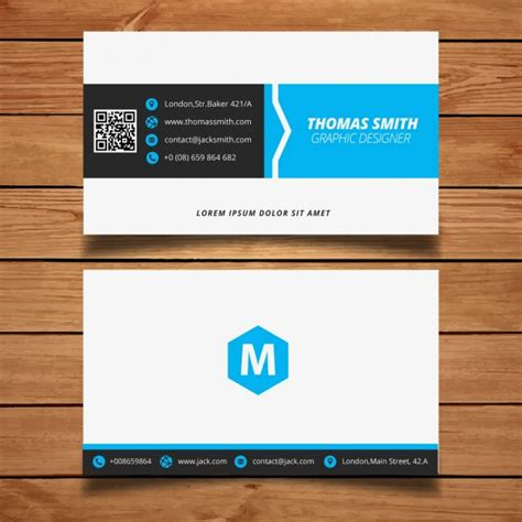 Blue Business Card Template Free by Corporate Minimal Black And Blue Business Card Template
