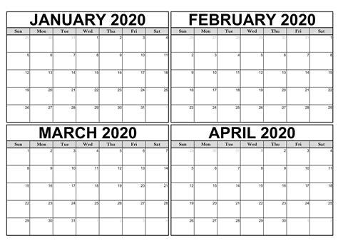 blank january  april  calendar excel net market media blank january  april