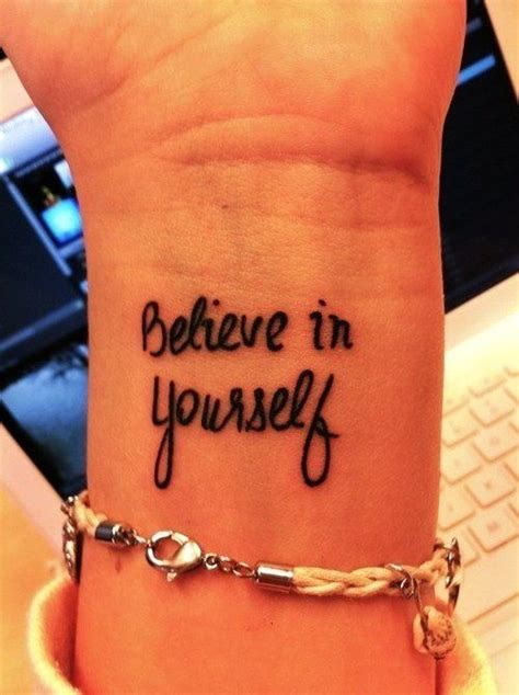 cute wrist tattoo sayings believe wrist quote tattoos for wrist quote