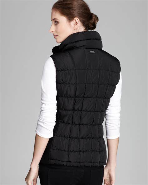puffer vest calvin klein puffer vest in black lyst