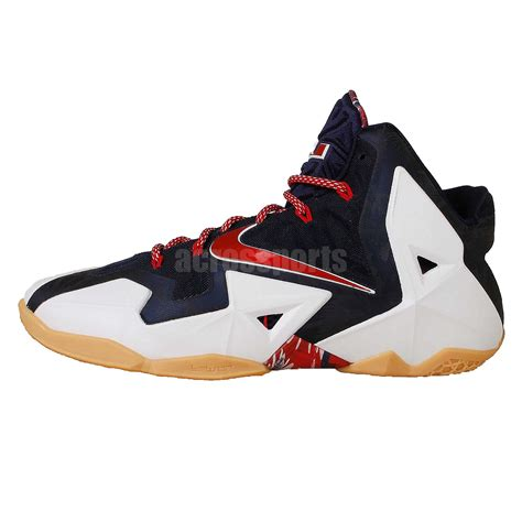 usa basketball shoes nike lebron xi usa independence day july 4th 2014