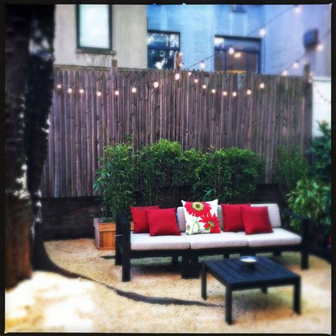 backyard nyc upper west side nyc backyard gravel patio outdoor