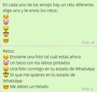 cadenas de whatsapp hot preguntas cadenas de retos hot para whatsapp juegos para whatsapp