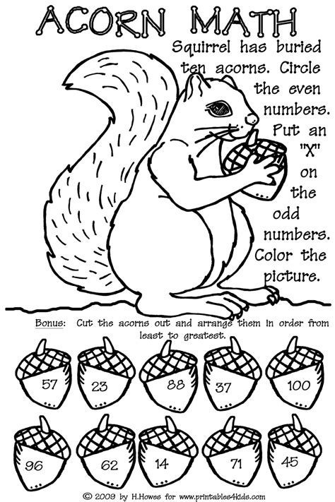 autumn math coloring pages odd and even double digit fall math worksheet printables