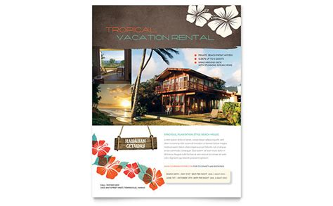 house rental flyer template vacation rental flyer template design