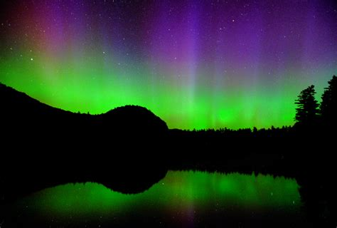 Northern Lights New Hshire by Northern Lights Echo Lake Conway Nh A Photo