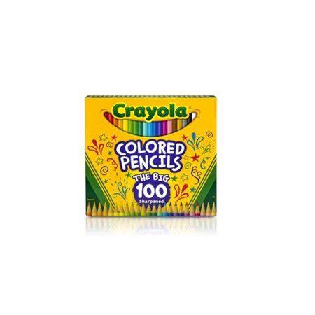 crayola colored pencils 100 crayola colored pencil set 100 pencils walmart