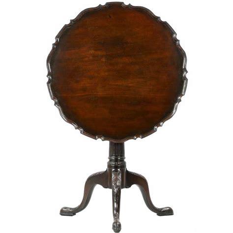 george iii mahogany antique pie crust tea table