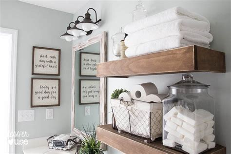 hometalk modern farmhouse bathroom makeover