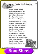 twinkle testo twinkle twinkle song and lyrics from kididdles