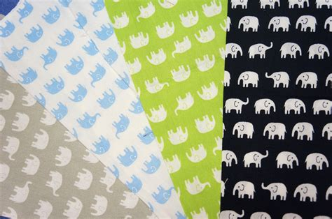 Elephant Print Upholstery Fabric by Tiny Elephant Print Fabric Scraps Set Of 4 Colos By