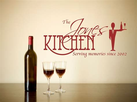 personalised wall sticker quotes personalised wall sticker kitchen quote decorative mural decal vinyl sticker ebay