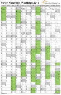 Kalender 2018 Nrw Zum Ausdrucken Ferien Nordrhein Westfalen 2018 Ferienkalender Zum