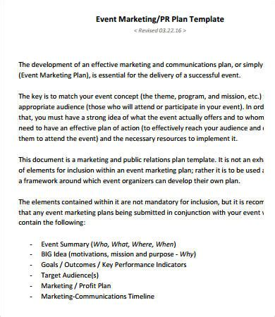 Marketing Plan Sles 8 Free Pdf Documents Download Free Premium Templates Event Marketing Strategy Template
