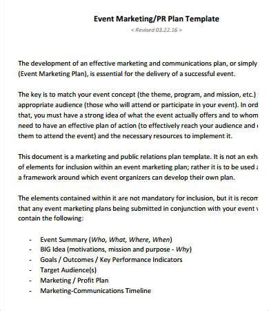 Marketing Plan Sles 8 Free Pdf Documents Download Free Premium Templates Event Marketing Template