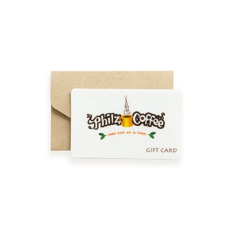 Philz Coffee Gift Card Balance - gift card in store use only