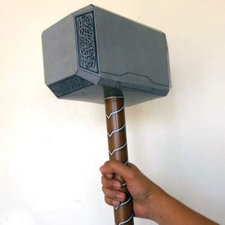 Thor S Hammer Avengers Mj 246 Lnir Version Free Printable Papercraft Templates Thor Hammer Printable Template