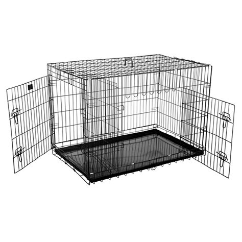 42 inch crate portable 42 quot folding pet crate kennel wire cage for dogs cats or rabbits ebay