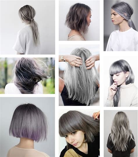 gray hair fad gray and silver hair trends short hairstyle 2013