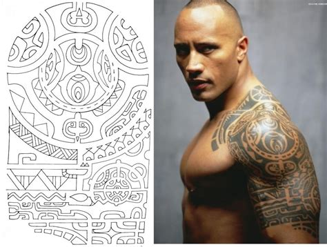 the rock s arm tattoo in faster dwayne johnson maori the rock tattoo maoritattoosbrazo