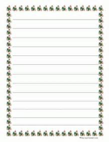 christmas border lined writing paper search results