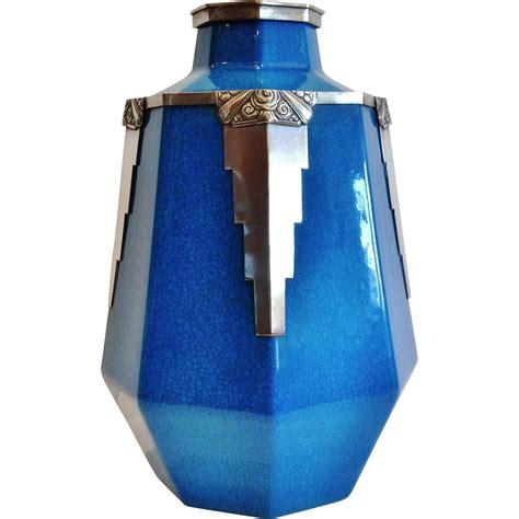 deco vase exceptional boch freres deco vase quot blue