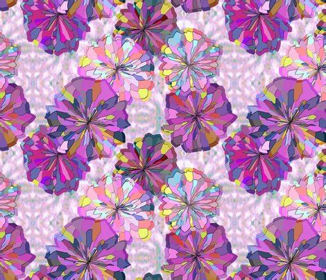 Ikat Rambut Flower Ikat Rambut pink and violet floral with ikat fabric