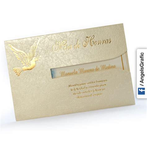 diseos de tarjetas para invitacin de misa de difuntos invitaci 243 n para misa de honras hr 56861 angels graphic