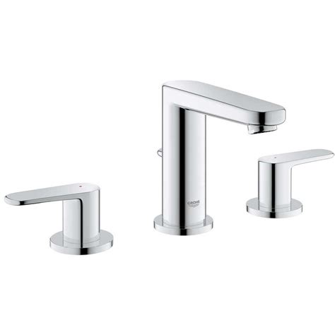 grohe europlus 8 in widespread 2 handle low arc bathroom