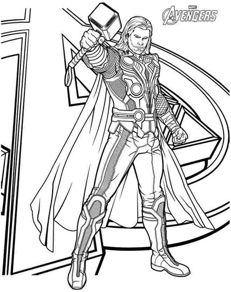 thor coloring pages online thor coloring pages print color craft
