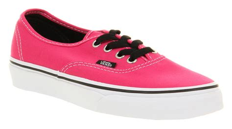 pink and black vans shoes