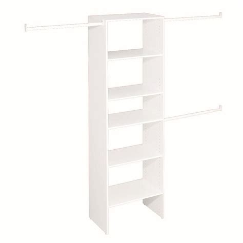 closetmaid t4 selectives 25 inch starter tower kit the