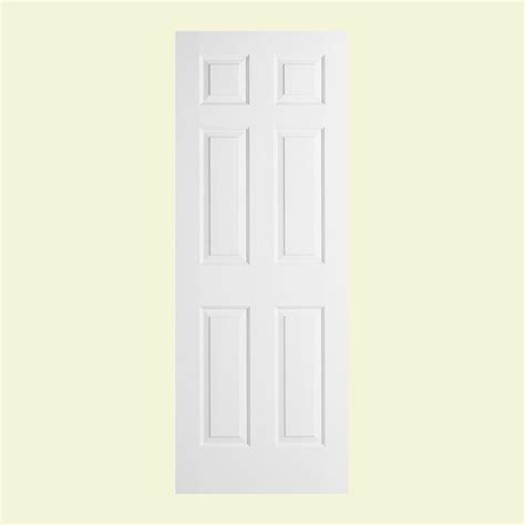 30 X 78 Interior Door Jeld Wen 30 In X 78 In Woodgrain 6 Panel Solid Primed Molded Interior Door Slab