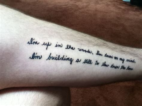 bon iver tattoo really cool bon iver lyrics tattoos