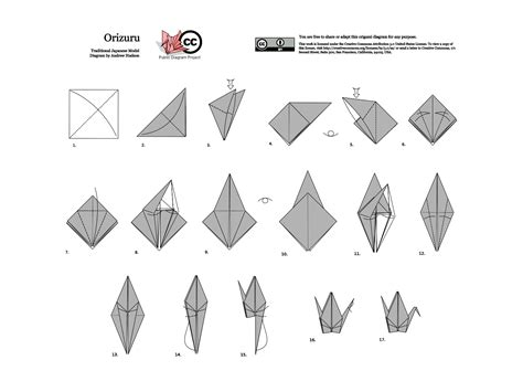 Origami Crane Folding - advance money origami instructionsadvance money