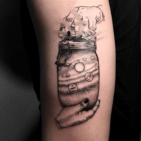 tattoo body hard the universe in a jar tattoo by oozy oozy tattoo oozy