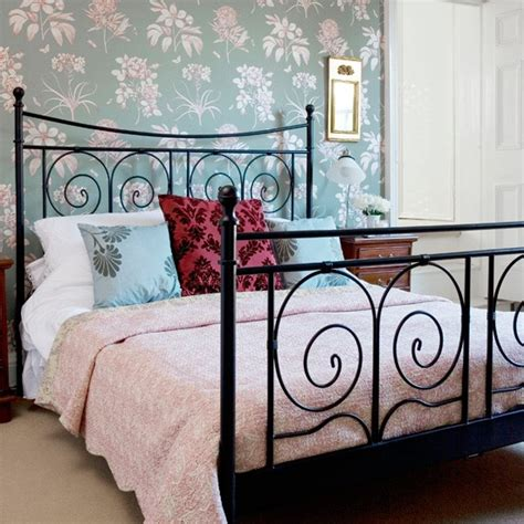 Hang A Feature Wallpaper Glamorous Bedroom Decorating Bedroom Wallpaper Decorating Ideas