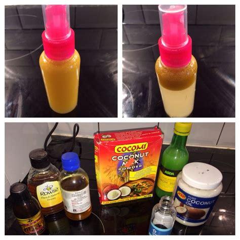 diy setting spray coconut hair growth spray ingredients coconut