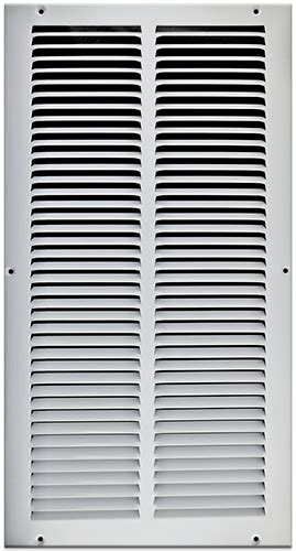 10 X 20 Sted Steel Return Air Grille White