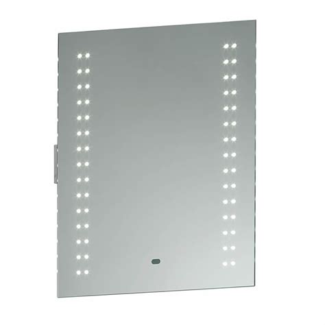 Led Bathroom Mirrors With Shaver Socket Perle Led Bathroom Mirror Shaver Socket Motion Sensor