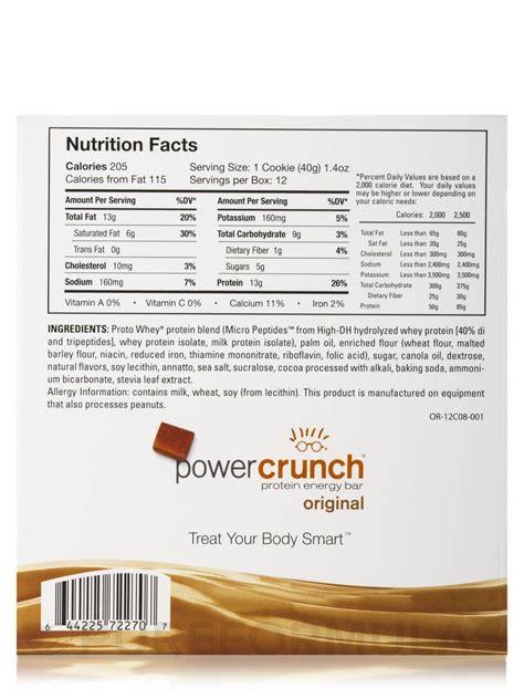 Power Nutrision Kemasan Besar Original bionutritional power crunch bars nutrition facts nutrition ftempo