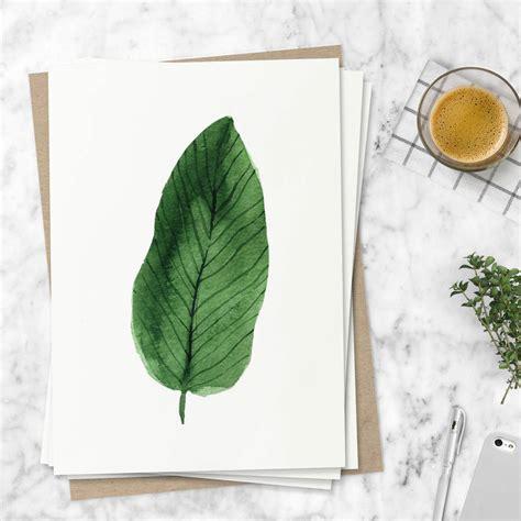 Leaf Print tropical leaf print set of four illustration by the