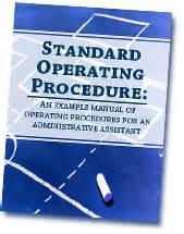 administrative procedures manual template standard operating procedure