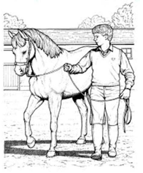 horse trainer coloring page people riding horses coloring coloring pages