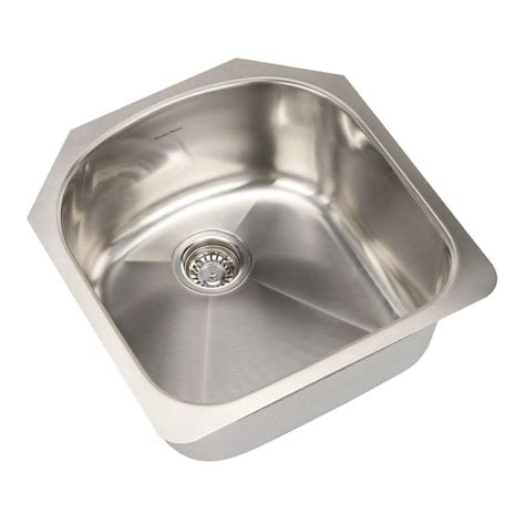 Brushed Steel Kitchen Sink American Standard Prevoir Undermount Brushed Stainless Steel 20 In Single Bowl Kitchen Sink Kit