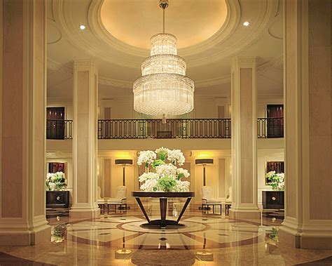 luxury lobby interior design of beverly wilshire hotel