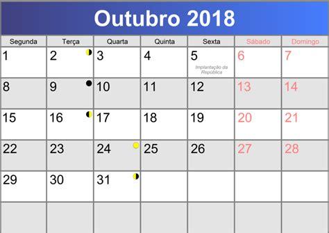 Calendario Outubro De 2018 Calend 225 Outubro 2018 Printable Pdf Abc Calendario Pt